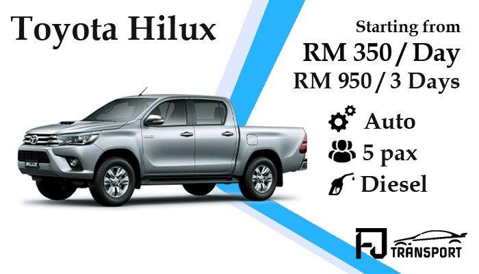 Kuching_car_rental_kereta_sewa_kuching_Fjtransport_Toyota_Hilux